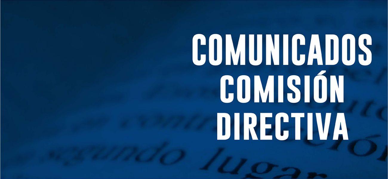 Comunicados Comisión Directiva