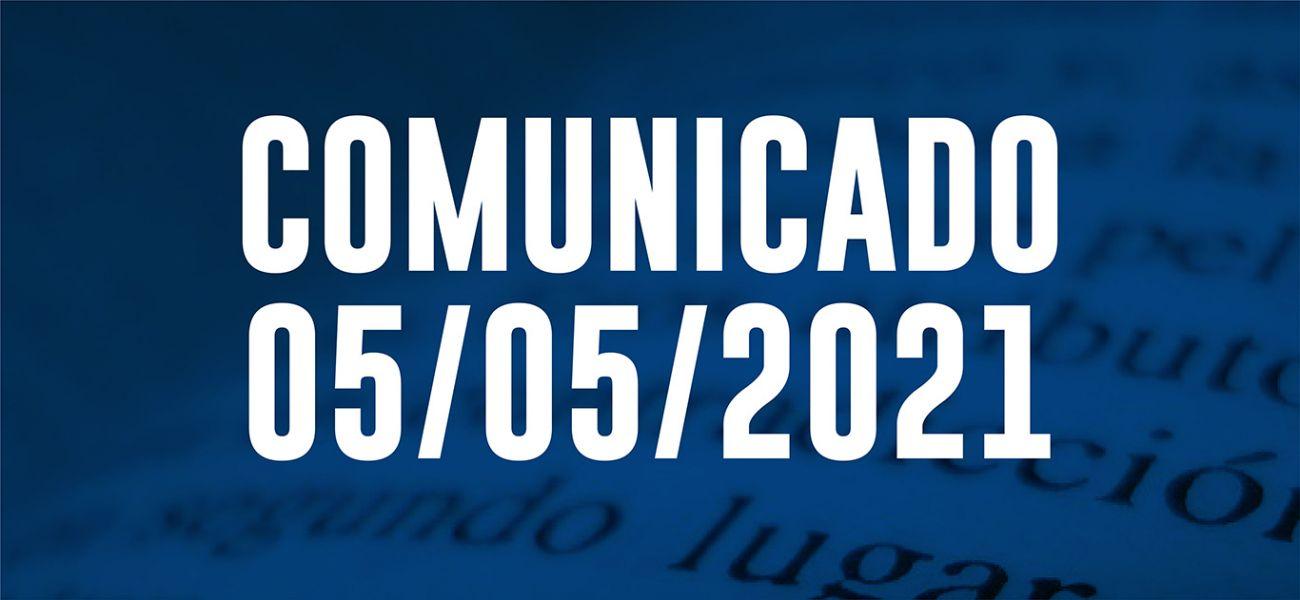 Comunicado Comisión Directiva 05/05/2021